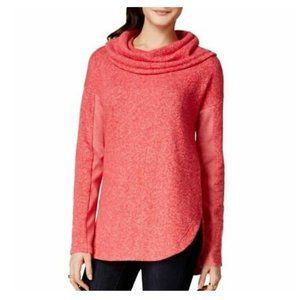 TOMMY HILFIGER Athluxe Red Cowl Neck Sweater
